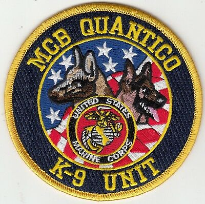 Us Marines Mcb Quantico K-9 Unit Virginia Va Police Patch Canine Dog K9