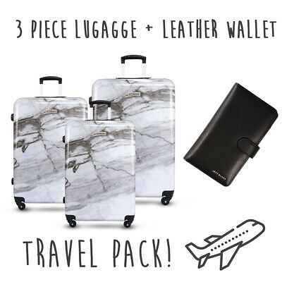 BRAND NEW 3PC Lightweight Luggage Suitcase Set Carry On Hard Shell