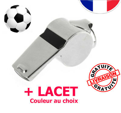 Sifflet Métal Referee Sport Metal Emergency Soccer Whistle + Lacet