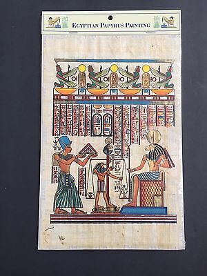 Hand Painted Egyptian Art Papyrus Paper Ancient Egypt Painting Hall of Judgement