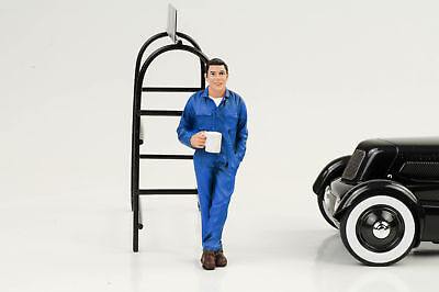 Mechaniker Larry Pause taking break Figur Figuren 1:18 American Diorama no car
