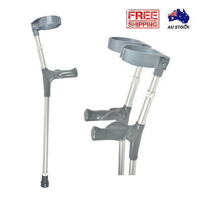 Forearm Crutches with Ergonomic grip - Adjustable Height Walking Aid Pair