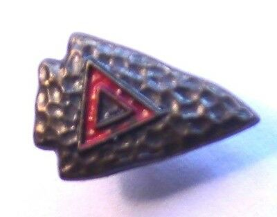 "Vintage YMCA Arrowhead ""Indian Guides"" Lapel Pin Enamel Red Triangle"
