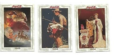 1993 Coca Cola Collectors Series 1 Prototype 3 card Set