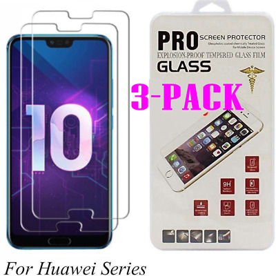 1-3X 100% For Huawei honor 10 9 8 7 HD Tempered Glass Screen Protector Film