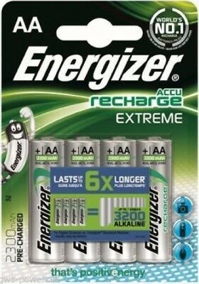 4 Piles rechargeables ENERGIZER HR06 AA 2300 mAh