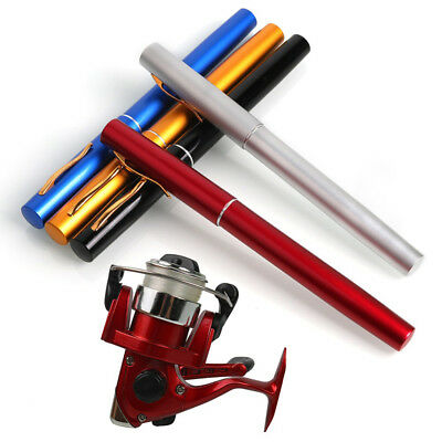 Mini Telescopic Ice Fishing Rod With Fishing Reel Pocket Pen Fishing Rod ReelSet