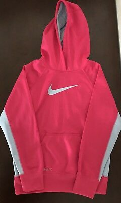 NIKE GIRLS SIZE LARGE 14 16 THERMA FIT NIKE LOGO HOODIE EUC -  17.59 ... da942fb68