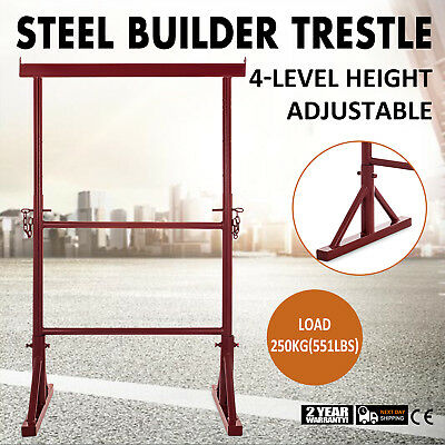 4 Level Height Adjustable Steel Builder Trestle Commercial Plasterer Extendable