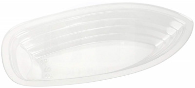 MT Products 8 oz. Clear Plastic Disposable Banana Split Boat (30 Pieces)