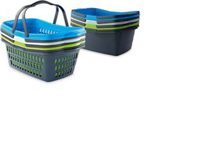 Reusable Plastic Shopping Basket with Handles RRP$24.95