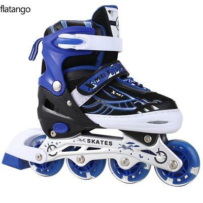 New Boys Girls Pink Blue Roller Blades Inline Skates Adjustable Size Pro Skating