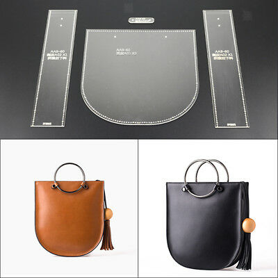 New Acrylic Template Pattern for Shoulder Bag Leather Crafts Pattern 2018
