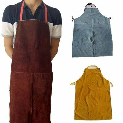 Cowhide Leather Welding Apron Safety Protective Gear Cloth Anti-scald Long Coat