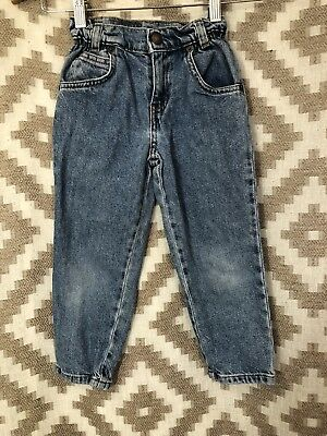 Vintage Orange Tab Levi's Blue Jeans Kids Childrens Size 4