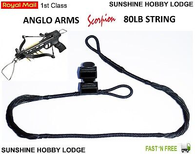 Deluxe Crossbow Pistol Replacement String for 50lb /& 80lb Bows Includes End Caps