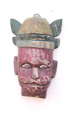 1900s Old Vintage Handcrafted Wooden Mask Home Wall Decor Collectible PE42