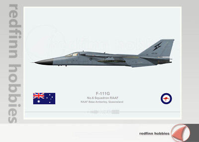 Warhead Illustrated F-111G 6 SQN RAAF A8-514 Aircraft Print