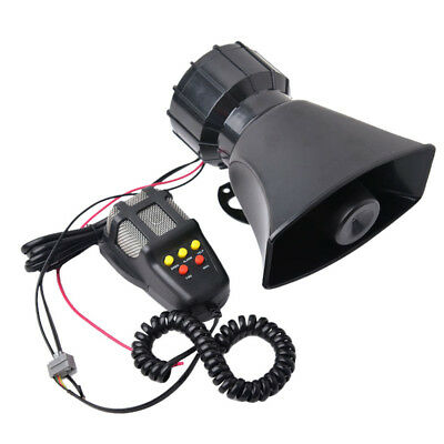 Car Truck Alarm Police Fire Loud Speaker PA Siren Horn Emergency Sound 100W