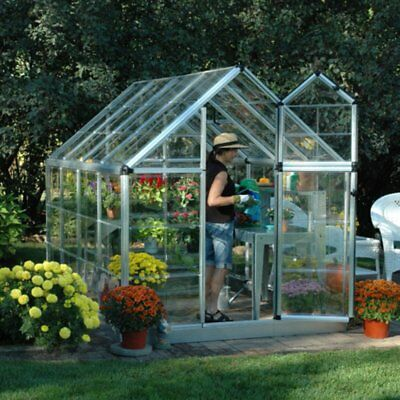 Palram Snap & Grow 6 x 8 ft. Greenhouse, Silver, 6 X 8 X 7