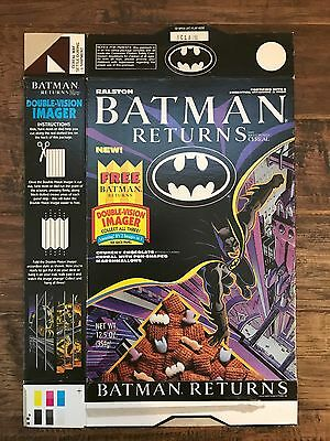 "1992 Vintage (Ralston) ""BATMAN RETURNS"" (Double-Vision Imager) Cereal Box, RARE!"