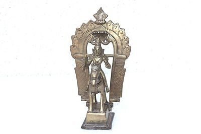 1900's Old Vintage Rare Brass Man Horse Statue Home Decor Collectible PB-79