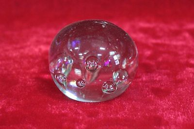 1900s Old Vintage Antique Beautiful Solid Glass Paper Weight Collectible PK-60