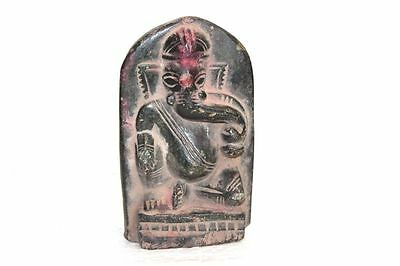 1900s Old Vintage Indian Stone Ganesha Statue Home Decor Collectible PF-98