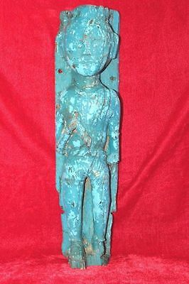 1900's Old Vintage Rare Wooden Tribal Man Panel Decorative Collectible PH-41