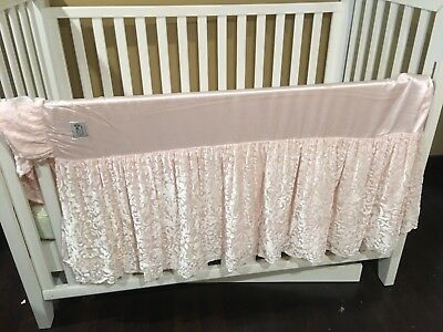 Luxury Cribskirt; Brand- Little Giraffe; Color- Light Blush- Baby Girl (Elegant)