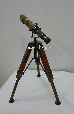 Antique Brass table Telescope With Adjustable Tripod Beautiful Sea Telescope