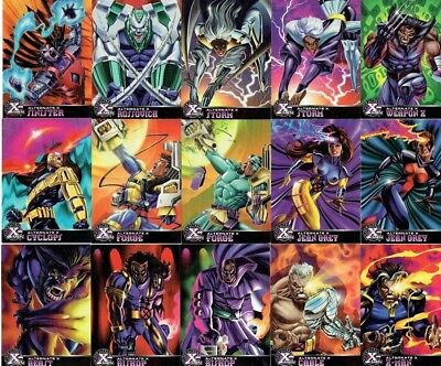 X-Men 1995 Fleer Ultra Near Set 15/20 Alternate X Insert Trading Cards
