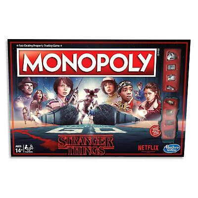 Monopoly Netflix Stranger Things - Family Board Games  Adults Kids Toys Ages 14+