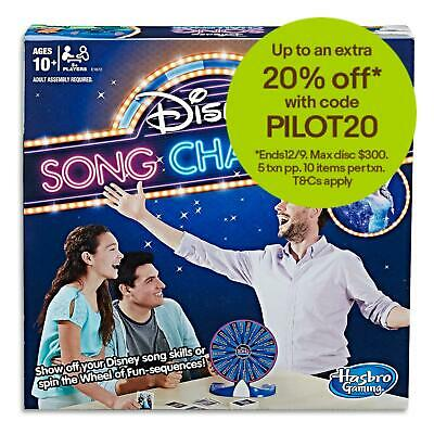 Disney Song Challenge - Hasbro Family Board Games - Alladin Kids Toys - Ages 10+
