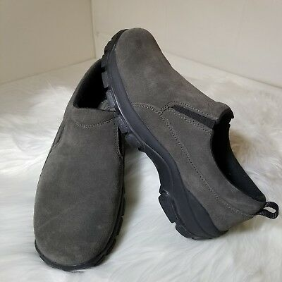 defa5e00e59 Lands End Men s Suede Gray Slip On Comfort Casual Loafer Shoes Size 8 - EUC