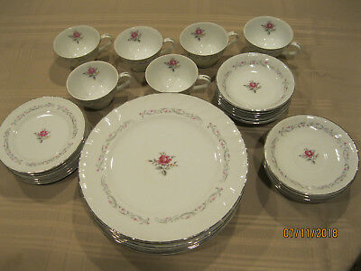 Fine China of Japan ROYAL SWIRL MSI 6 piece setting 30 pieces excellent conditio