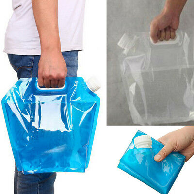 5L Collapsible Water Storage Container Carrier Bag for Outdoor Camping Emergency