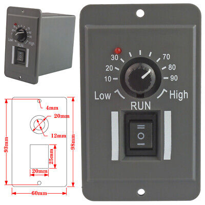 12V 24V 36V 48V PWM DC Motor Speed Controller Reversible Switch 6A Regulator