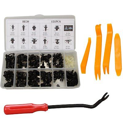 121 Clips Car Door Push Bumper Trim Body Retainer Assortment For Honda w/ Tools