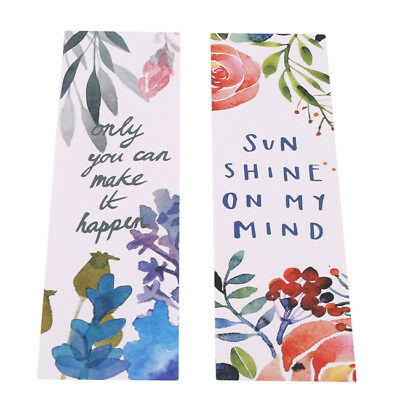30pcs/box Flower Poetic Bookmarks Cute Bookmark Book Marker Stationery N7