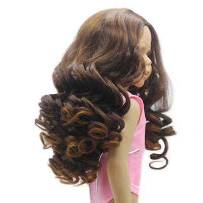 Gradient Hair Replacement Wig for 18inch American Girl Doll Hair Making