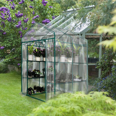 3-Tier Portable Greenhouse 6 Shelves PE Cover Plant Garden Green House Cover