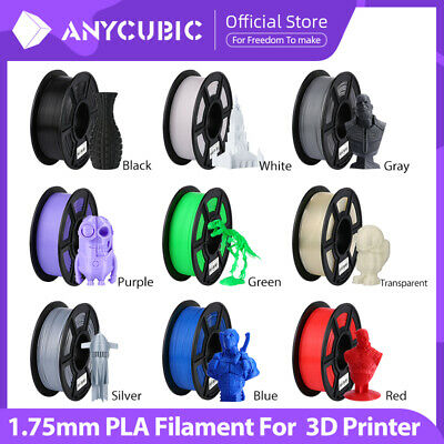 ANYCUBIC 1.75mm PLA Filament 1KG/2.2lb Mutil-Color 3D Printer Material Spool AU