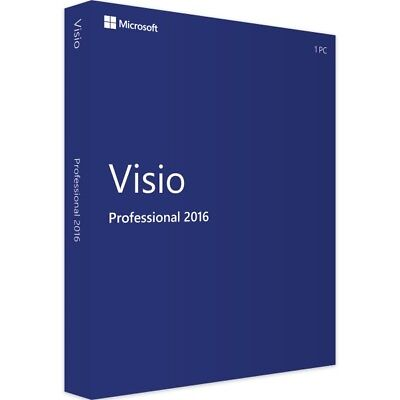 Microsoft Visio Professional 2016 - New - Full Version - Download