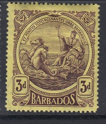Barbados 1916-19  3d Purple/Yellow SG186 M/Mint