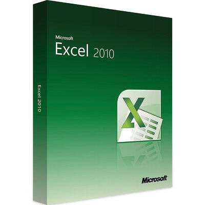Microsoft Excel 2010 - New - Full Version - Download