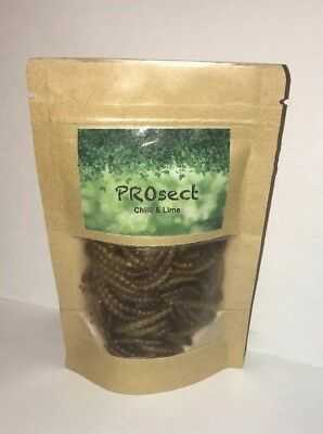 PROsect Edible Insects Chilli and Lime Roasted Mealworms Australia