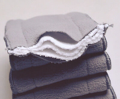 15X 5-Layer Inserts Reusable Bamboo Charcoal for Baby Modern Cloth Nappy Liners