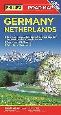 Philip's Germany and Netherlands Road Map, Paperback