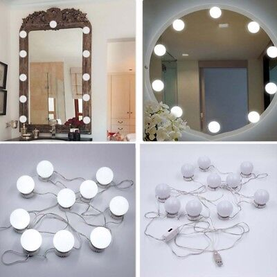 Uk 1 5x Dressing Table Mirror Light Strip Hollywood Vanity Makeup Dimmable Bulb